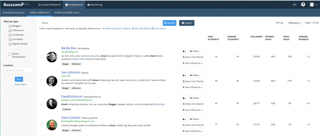 BuzzSumo Screen Shot 2
