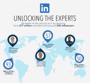 LinkedIn Influencer Program Screenshot